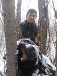 Giovanni mit seinem Winterbären!