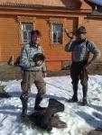 Beide sind glücklich in Russland