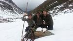 Drei Freunde in Osttirol auf Schneehahn